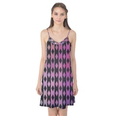 Old Version Plaid Triangle Chevron Wave Line Cplor  Purple Black Pink Camis Nightgown by Alisyart