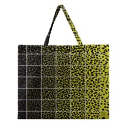 Pixel Gradient Pattern Zipper Large Tote Bag by Simbadda