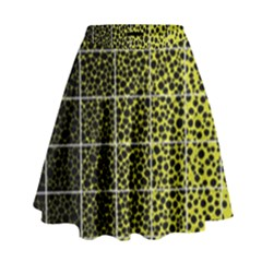 Pixel Gradient Pattern High Waist Skirt by Simbadda