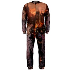 River Venice Gondolas Italy Artwork Painting Onepiece Jumpsuit (men)