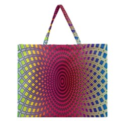 Abstract Circle Colorful Zipper Large Tote Bag by Simbadda