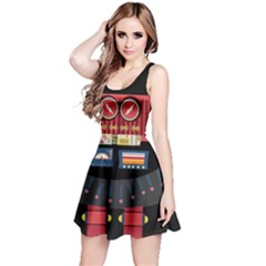Robot Reversible Sleeveless Dress by PattyVilleDesigns