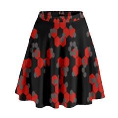 Red Digital Camo Wallpaper Red Camouflage High Waist Skirt by Alisyart