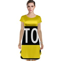Road Sign Stop Cap Sleeve Nightdress by Alisyart