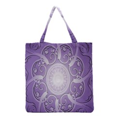 Purple Background With Artwork Grocery Tote Bag by Alisyart