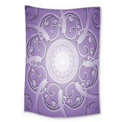 Purple Background With Artwork Large Tapestry by Alisyart
