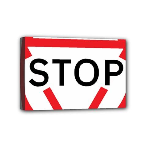Stop Sign Mini Canvas 6  X 4  by Alisyart