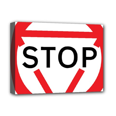 Stop Sign Deluxe Canvas 16  X 12   by Alisyart