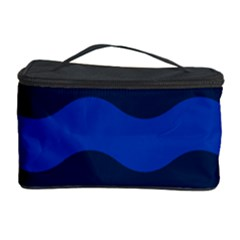 Wave Line Waves Blue White Red Flag Cosmetic Storage Case by Alisyart