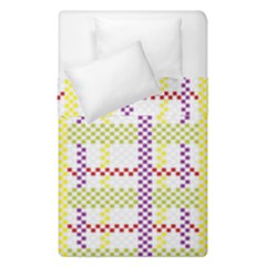 Webbing Plaid Color Duvet Cover Double Side (single Size) by Alisyart