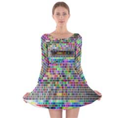 Plasma Gradient Phalanx Long Sleeve Skater Dress