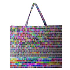 Plasma Gradient Phalanx Zipper Large Tote Bag by Simbadda