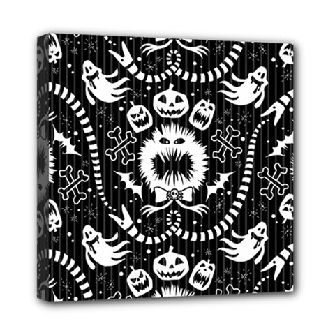 Wrapping Paper Nightmare Monster Sinister Helloween Ghost Mini Canvas 8  X 8  by Alisyart