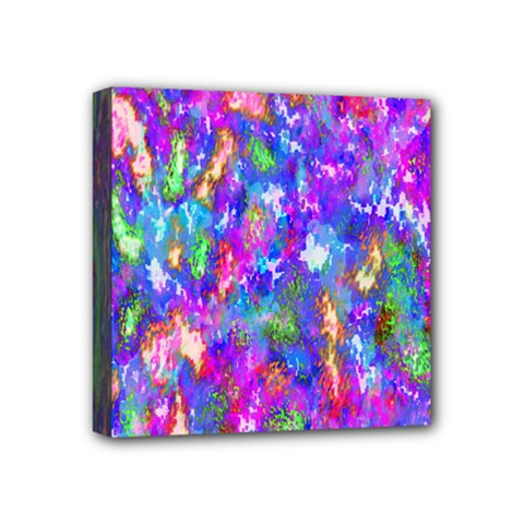 Abstract Trippy Bright Sky Space Mini Canvas 4  X 4  by Simbadda