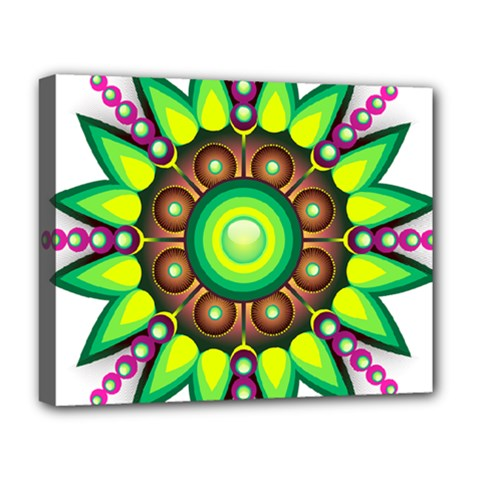 Design Elements Star Flower Floral Circle Deluxe Canvas 20  X 16   by Alisyart