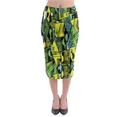 Don t Panic Digital Security Helpline Access Midi Pencil Skirt by Alisyart