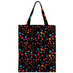 Floral Pattern Zipper Classic Tote Bag by Valentinaart