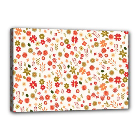 Floral Pattern Canvas 18  X 12  by Valentinaart
