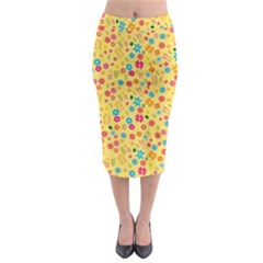 Floral Pattern Midi Pencil Skirt by Valentinaart