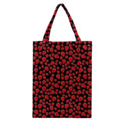 Strawberry  Pattern Classic Tote Bag by Valentinaart