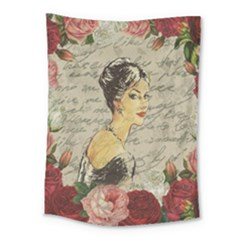 Vintage Girl Medium Tapestry by Valentinaart