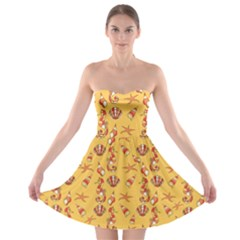 Seahorse Pattern Strapless Bra Top Dress