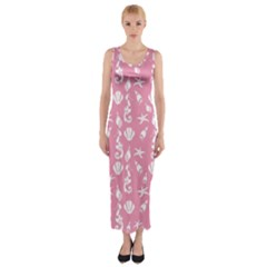 Seahorse Pattern Fitted Maxi Dress by Valentinaart