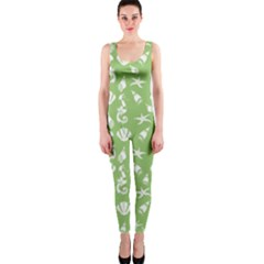 Seahorse Pattern Onepiece Catsuit by Valentinaart