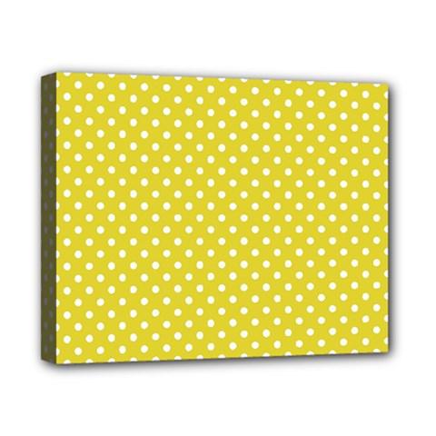 Polka Dots Canvas 10  X 8  by Valentinaart