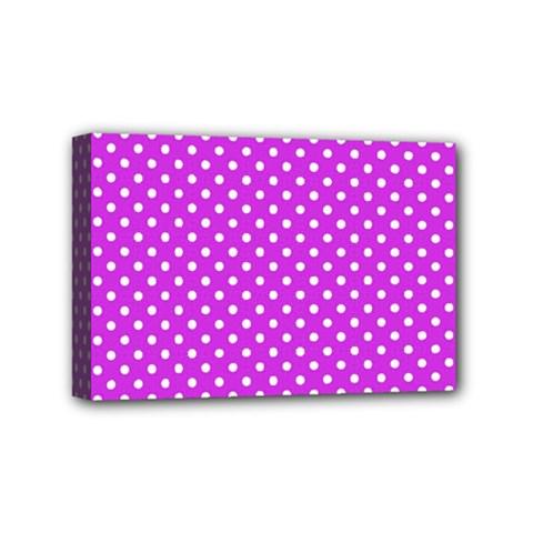 Polka Dots Mini Canvas 6  X 4  by Valentinaart