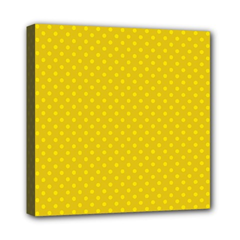Polka Dots Mini Canvas 8  X 8  by Valentinaart
