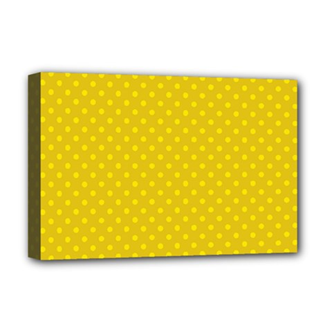 Polka Dots Deluxe Canvas 18  X 12