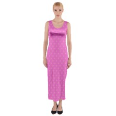 Polka Dots Fitted Maxi Dress