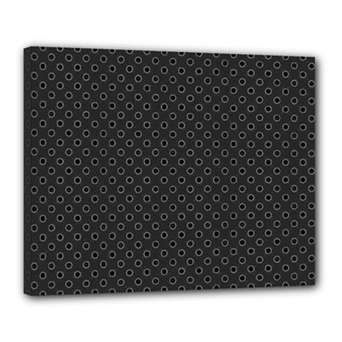 Polka Dots Canvas 20  X 16  by Valentinaart