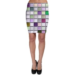 Color Tiles Abstract Mosaic Background Bodycon Skirt by Simbadda