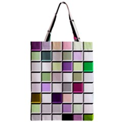 Color Tiles Abstract Mosaic Background Classic Tote Bag by Simbadda