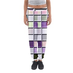 Color Tiles Abstract Mosaic Background Women s Jogger Sweatpants by Simbadda