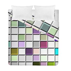 Color Tiles Abstract Mosaic Background Duvet Cover Double Side (full/ Double Size) by Simbadda