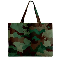 Camouflage Pattern A Completely Seamless Tile Able Background Design Zipper Mini Tote Bag by Simbadda