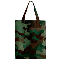 Camouflage Pattern A Completely Seamless Tile Able Background Design Zipper Classic Tote Bag by Simbadda