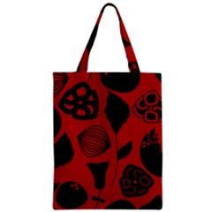 Congregation Of Floral Shades Pattern Zipper Classic Tote Bag by Simbadda
