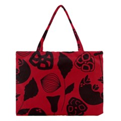Congregation Of Floral Shades Pattern Medium Tote Bag by Simbadda