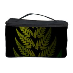 Drawing Of A Fractal Fern On Black Cosmetic Storage Case by Simbadda