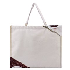 Greeting Card Coffee Mood Zipper Large Tote Bag by Simbadda
