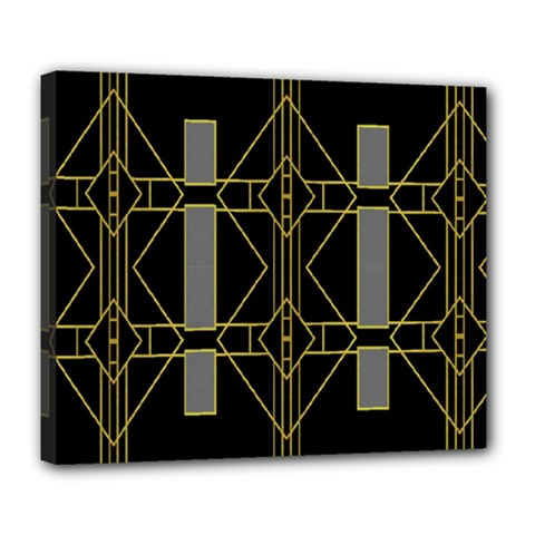 Simple Art Deco Style  Deluxe Canvas 24  X 20   by Simbadda