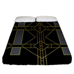 Simple Art Deco Style  Fitted Sheet (king Size) by Simbadda