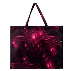 Picture Of Love In Magenta Declaration Of Love Zipper Large Tote Bag by Simbadda