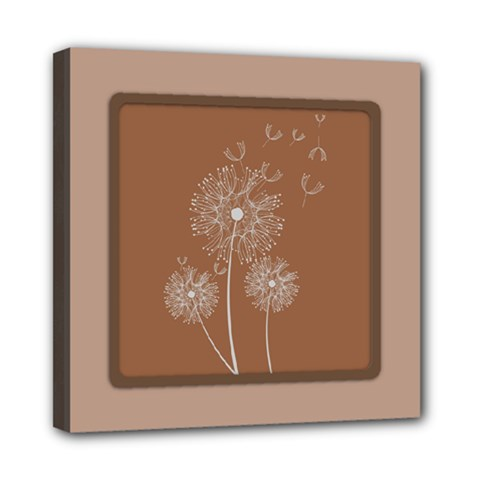 Dandelion Frame Card Template For Scrapbooking Mini Canvas 8  X 8  by Simbadda