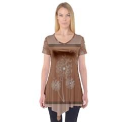 Dandelion Frame Card Template For Scrapbooking Short Sleeve Tunic