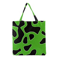 Black Green Abstract Shapes A Completely Seamless Tile Able Background Grocery Tote Bag by Simbadda